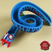 3d water slide v2 snake model