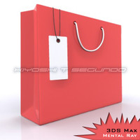 Red Bag with White Tag