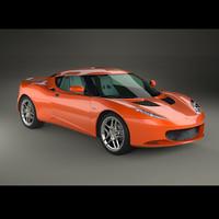 car evora sports 3d model