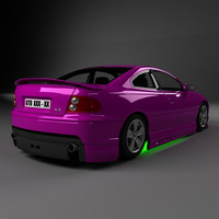 3d model glomur racing sportcar