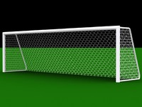 soccer football goal 3d model