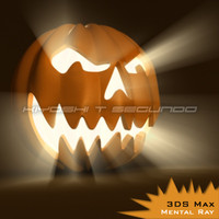 3d model halloween pumpkin