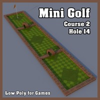 Low Poly Mini Golf Hole C2H14