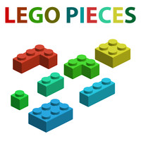 lego pieces 3d model