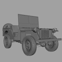 3d model bantam willys jeep