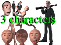 3d model animation package rigged characters