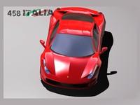 458 italia 3d max