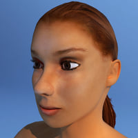 Female Human Character Dasha nude Rigged