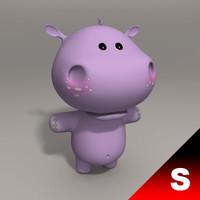 3d model hippo child