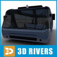 Airport bus 02 by 3DRivers