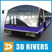 airport bus 3d model