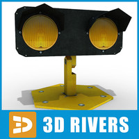 3ds max runway traffic light