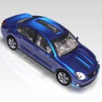 car nissan maxima sports 3d max