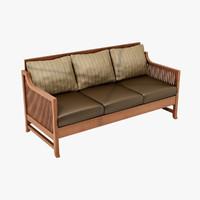 3d model design oak park chair