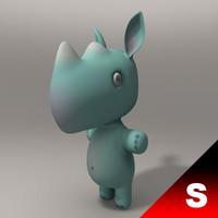 3d rhino child model