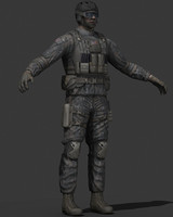 human military soldier 3d model