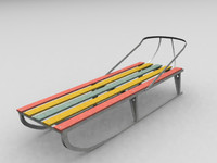 aluminium sledge 3d max