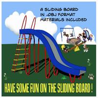 sliding board obj