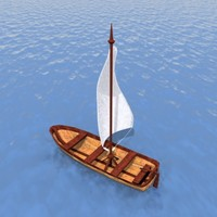 3d small sailboat model