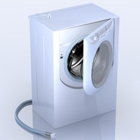 3d model of washing machine ariston aqualtis