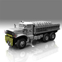 3d white666 truck model