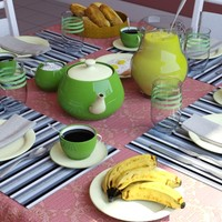 3d breakfast table
