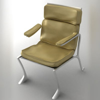 leather steel chair 3ds