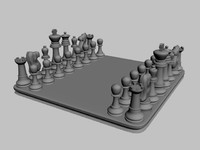 3ds max chess board