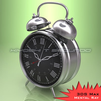 3d classic alarm clock model