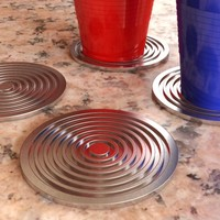 Aluminum Coasters - Accurate and scale