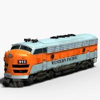 3d f7 diesel locomotive