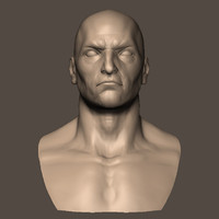 male head 3d obj