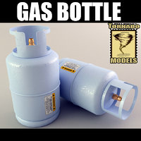 3d model of gas bottle