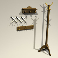 3d model hatrack 01 hat rack