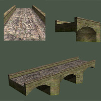 bridge old 3d model