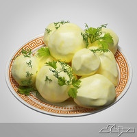 3d garnish boiled potatoes model
