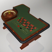 european roulette wheel table 3d max