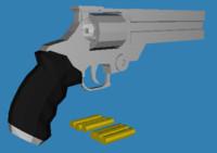vash pistol trigun revolver 3d model