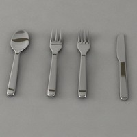Fork Spoon Trident and Knife