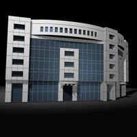 3d facade building model