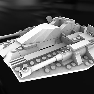 free lego space 3d model - Lego Spaceship... by MilosJakubec