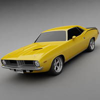 3d model 1972 plymouth cuda 440