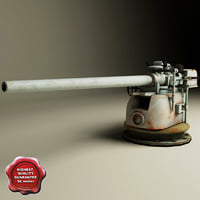 88mm deck gun 3d model