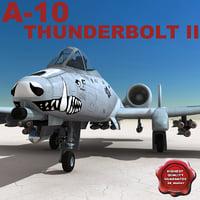 a-10 thunderbolt ii 3d max