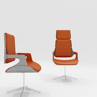 Interstuhl Silver Office Chairs