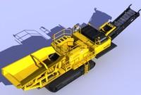 3d model rock crusher komatsu br500jg
