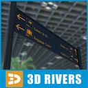 Airport Sign 3D models