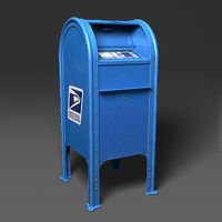 3d model postal mailbox mail box
