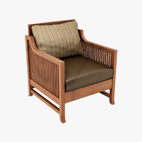 design oak park chair 3d model