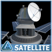 orbiting satellite 3d 3ds